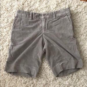 GAP plush velvet gray shorts